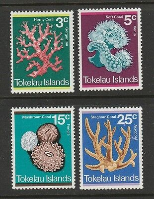 1973 Tokelau Islands Coral Set Sg 37/40 M/mint