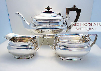 Sheffield Roberts & Belk Silver Plate Victorian English Tea Set Teapot Service