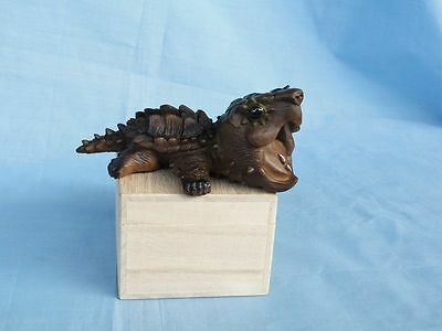 Super Q Alligator Snapping Turtle Tortoise Resin Model Figurine Figure 11cm
