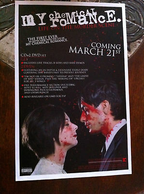 My Chemical Romance - Life Murder   cd promo poster RARE out of print Gerard Way