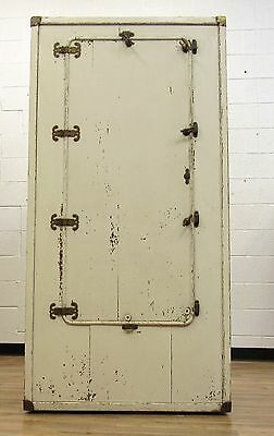 Antique Likly & Rockett Co, Cleveland, Nautical Painted Fur Wardrobe Armoire