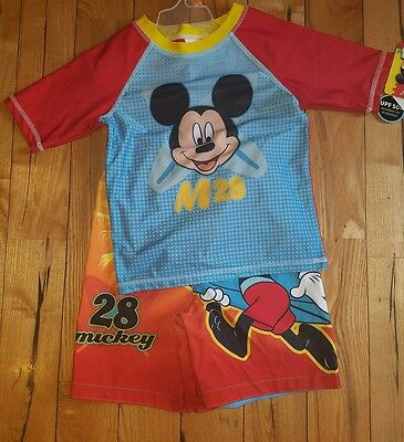 NWT boys MICKEY MOUSE Clubhouse 2 Piece Swimsuit Set Size 5T