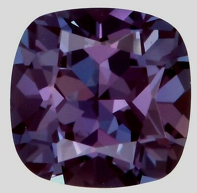 Lab-grown Cushion cut Created Alexandrite (true Alexandrite, not fake sapphire)