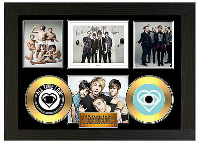 All Time Low - A3 Signed Framed Gold Vinyl Collectors Cd Display Picture