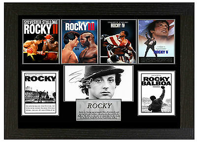 Rocky - A3 Signed Framed Collectors Display Picture