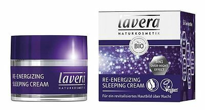 (19,96€/100ml) Lavera Re-Energizing Sleeping Cream 50 ml