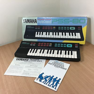 Vintage Retro Portable Yamaha PSS-80 Electronic Boxed Keyboard Mini Synth 1980's