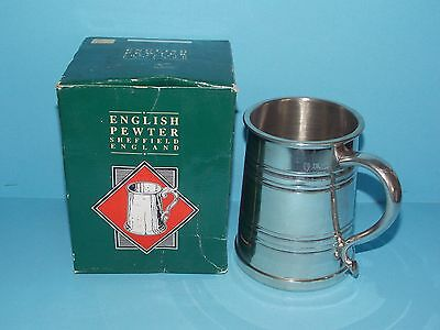 Brand New English Sheffield Pewter Tankard in Original Box