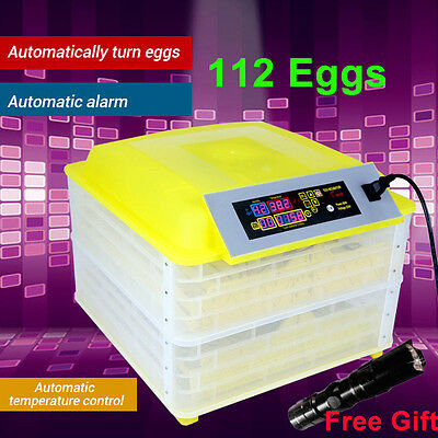 48/56/96/112 Digital Egg Incubator Hatcher Automatic Turning Temperature Poultry