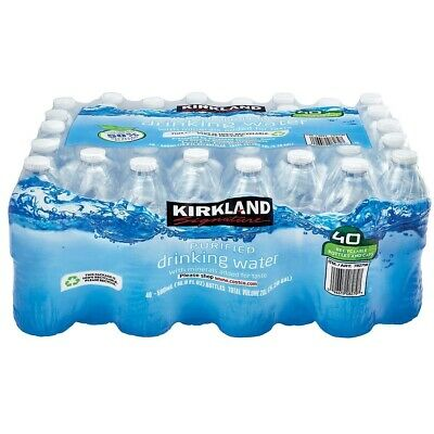Kirkland Signature Spring Water Bottled  French Natural Drinking Still 40X500ML
