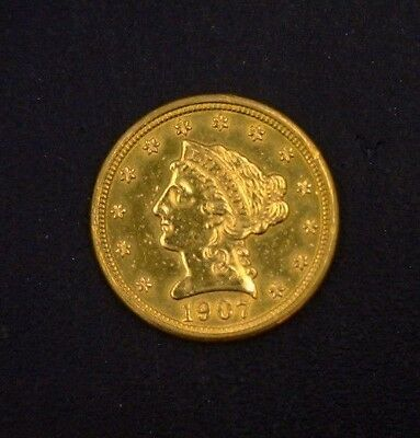 1907 $2.50 Liberty Gold Piece Raw