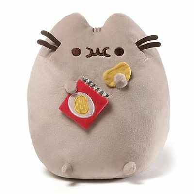 Gund New * Potato Chip Pusheen * 9.5-Inch Plush Cat Grey Tabby Kitty Stuffed Toy