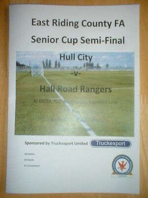 2016/17 Hull City V Hall Road Rangers - East Riding Cup Semi-Final