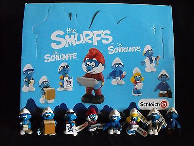 "Smurf Lot ~ Office Set ~ 8 NEW Figures ~ ""MINT"" ~ Peyo ~ Schleich ~ 2015"