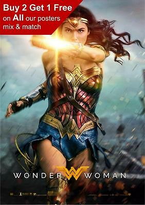 Wonder Woman 2017 Movie Poster A5 A4 A3 A2 A1