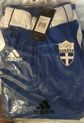 Brand New adidas Olympic Greece Hellas Rain Jacket Men Size 174 running athletic