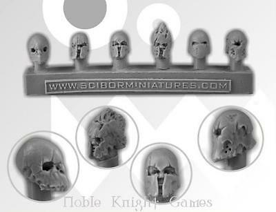 Scibor Monstrous Mini Kit 28mm Barbarian Helmets Box MINT