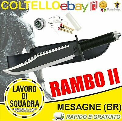 Coltello Rambo 2 Messer FIRST BLOOD PART 2 Hunting Knife Machete Macete Militare