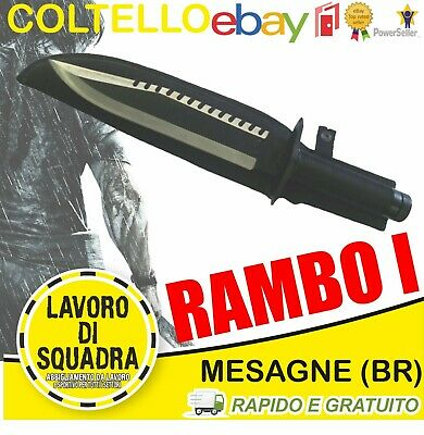 Coltello Rambo 1 Messer FIRST BLOOD PART I Bowie Hunting Knife Machete Macete