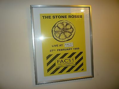 Metal THE STONE ROSES gig/concert sign Manchester Hacienda 1989 -A3+ Size