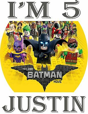Personalized LEGO Batman Movie Birthday Party T Shirt with Name On T