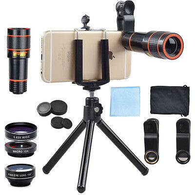 Apexel 4 in 1 Camera Lens Kit w/ Tripod & Holder for Smart Phones!
