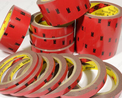 3M 5mm - 25mm Sizes Automotive Truck Auto Acrylic Double Sided Adhesive Tape HQ