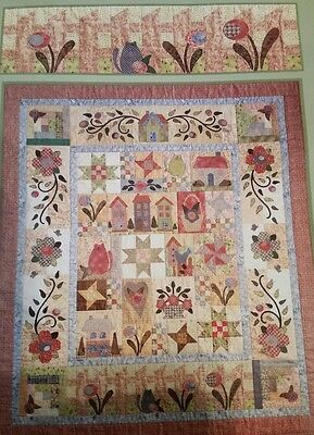 """Rosewood cottage BLOCK OF THE MONTH QUILT KIT - BOM 63"""" x 72"""" included fabric"""