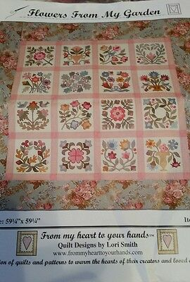 """Flowers from my garden  BLOCK OF THE MONTH QUILT KIT - BOM 59 1/4"""" × 59 1/4"""""""