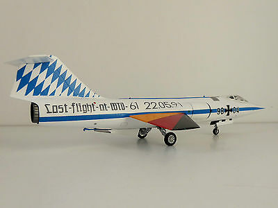 LUFTWAFFE Lockheed F-104G Starfighter WTD 61 LAST FLIGHT 1/72 Herpa 580120 F-104