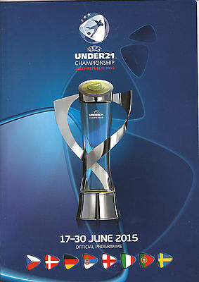 UEFA 2015 U21 OFFICIAL CHAMPIONSHIP FINALS PROGRAMME in CZECH REPUBLIC