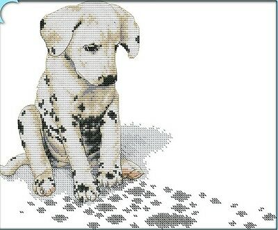 Dalmation. dog puppy 14CT counted cross stitch kit. Craft brand new