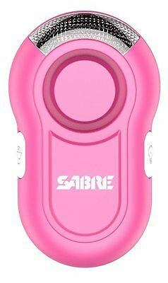 SABRE Personal Alarm with Clip & LED Light –LOUD 120dB Alarm Run Hike Bike Pink