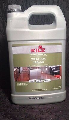 Kilz Concrete Brick & Tile Wet-Look Sealer Prep Coat + Protect (1) Gallon