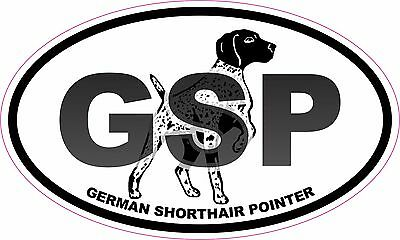 GSP German Shorthair Pointer Oval Vinyl Window Decal Sticker