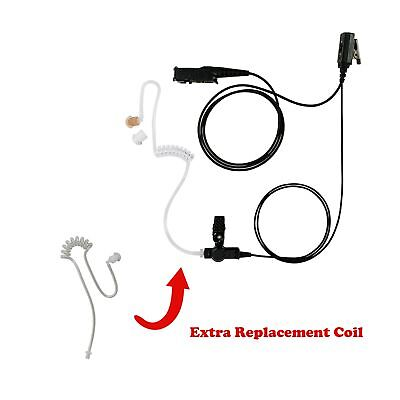 Commerical Light 1-Wire Earphone with Replace Tube for Motorola DEP550 DP2400