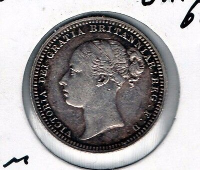 Nice 1880 Great Britain 6P great looking world silver minor free ship in the USA