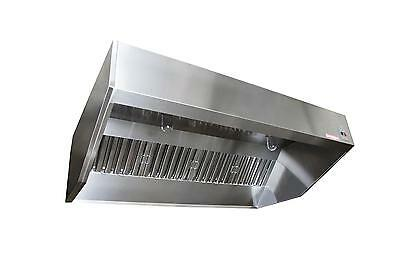 8ft SND-2 Series Stainless Steel Sloped Wall Canopy Hood