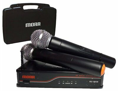 MORR EU 850 Professional Dual UHF Handheld Wireless Microphone System Audio Mic
