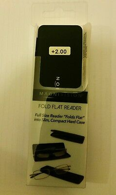 Foster Grant Magnivision Reading Glasses Fold Flat +1.50 +2.00