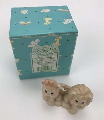 Precious Moments Figurine in Box - 679976 - Two By Two - A Tail Of Love - 1999