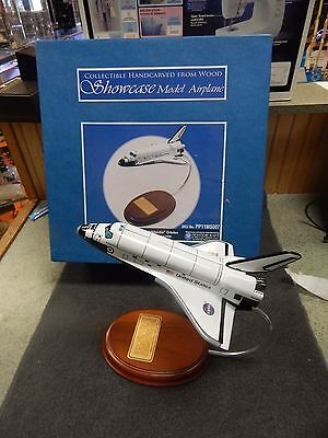 Space Shuttle Atlantis Orbiter Mastercraft Collection Model Airplane Hand Carved