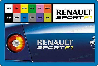 "FOR  - ""RENAULT SPORT F1 "" - VINYL CAR DECAL STICKER  - Clio/Megane - 195 x 50mm"