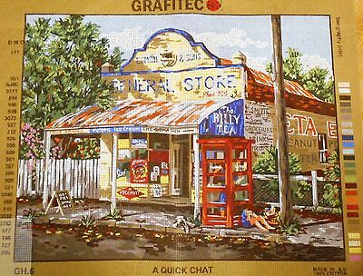 A QUICK CHAT (Gordon Hanley)  - Tapestry to Stitch (NEW) from Grafitec