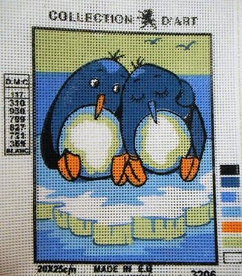 2 PENGUINS ON AN ICEBERG - Tapestry to Stitch (NEW) by Collection D'Art