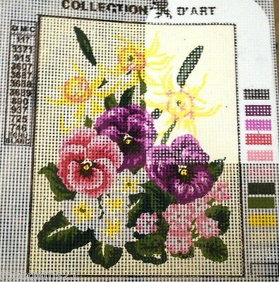 PANSIES, DAFFODILS, BLOSSOMS - Tapestry to Stitch (NEW) Collection D'Art