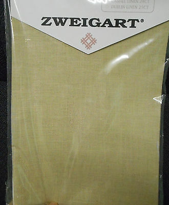 BELFAST LINEN 32 count Colour 3099 Dark Beige- 36 x 45 cms (NEW from ZWEIGART)