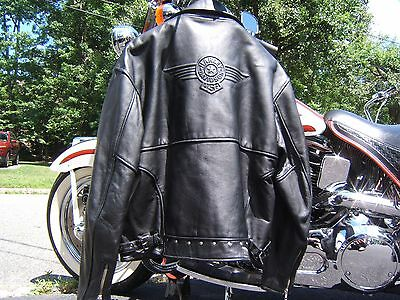 Harley Davidson Fatboy Heritage Softail Leather Jacket Large