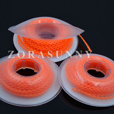 3Pcs Dental Orthodontics Elastic Ultra Power Chain Close Short Long Orange Color