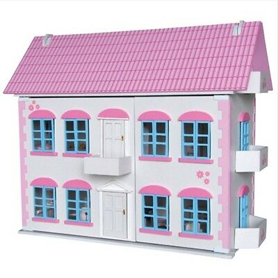 Large Wooden Whitehall Dollhouse With Furniture & Dolls. Dolls House, dollshouse